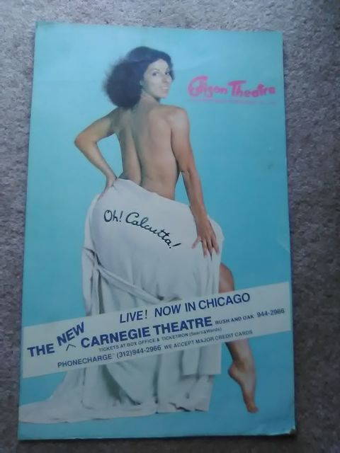 "Flyer for live stage production of ""Oh!, Calcutta!"" 7/25/80-11/06/80 courtesy Mark Fredric Dereng‎."