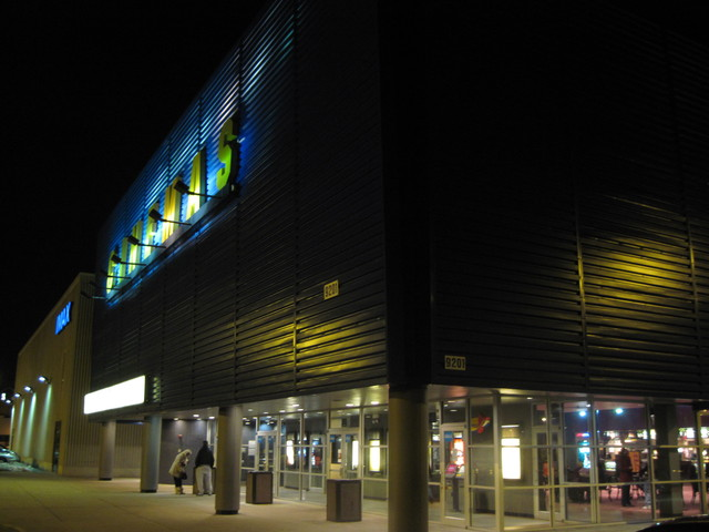 nighttime pic of entrance