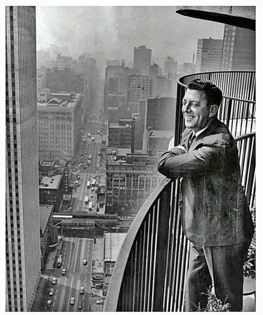 Chicago Theatre lower left. Real estate developer Charles Swibel 1965. Photo credit Marina City Online.