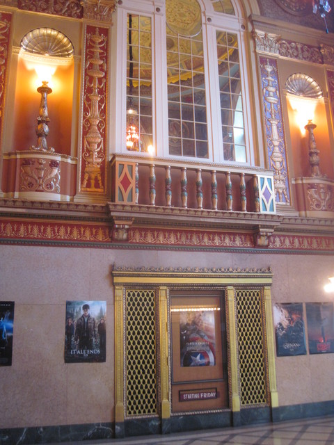 lobby wall and posters