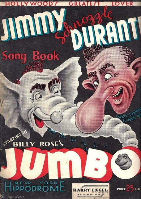 """Jumbo"" Songbook – Harry Engel Publications, 1936, courtesy Frank Mozino."
