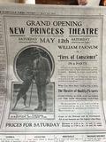 May 12, 1917 grand opening newspaper ad, courtesy Mason Vincent.