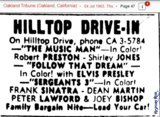 Ad for Hilltop Drive-In