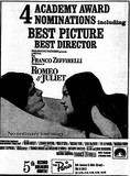News Paper Ad from 1968 Of Romeo & Juliet
