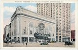 "[""Stanley Theatre and Clarke Building Vintage Postcard""]"