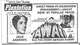 Plantation Theatre Ad 1967