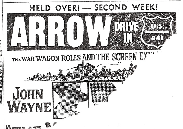 Arrow Drive-In Ad 1967