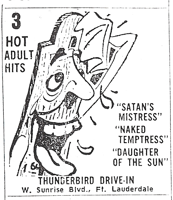 Thunderbird Drive-In Ad 1967