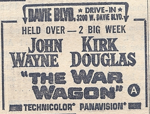 Davie Blvd Drive-In Ad 1967
