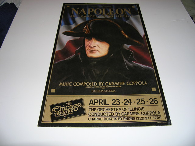 "Promotional Poster of ""Napolean"" at the Chicago Theater 1981"
