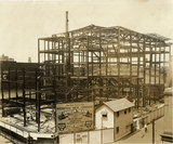 1927 construction photo credit Vincent Astor, from his book Memphis Movie Theatres, Images of America.