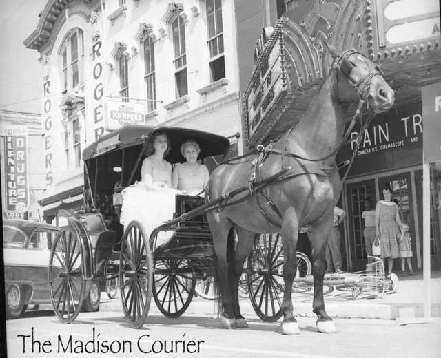 Mid `50s photo credit and courtesy of the Madison Courier.
