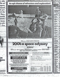 "<p>From the Los Angeles Times, April 1968. ""2001"" was about to begin its very long run at the Warner Cinerama.</p>"