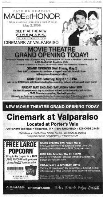Cinemark at Valparaiso