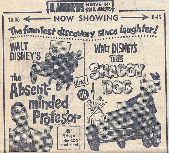North Andrews Drive-In Ad, August 1967