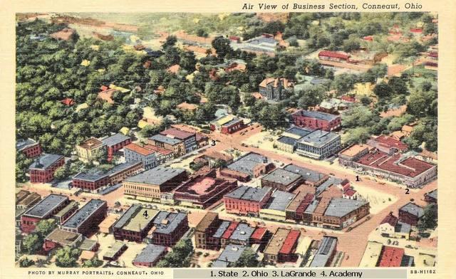 Aerial view, Conneaut, Ohio