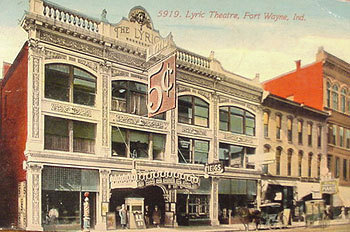Exterior of the Lyric Theatre on South Calhoun Street.