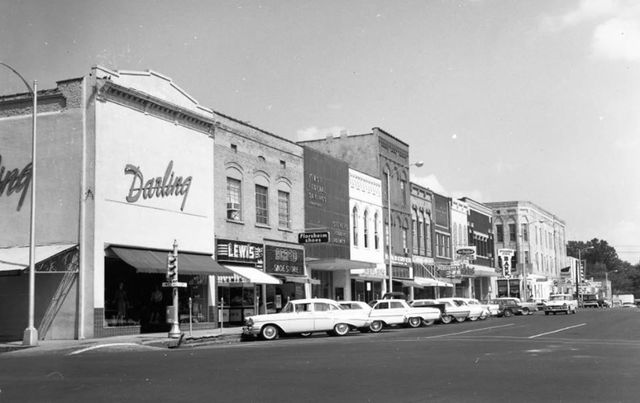 Frances Theatre far right. Courtesy Tennessee Good Old Days Facebook page.