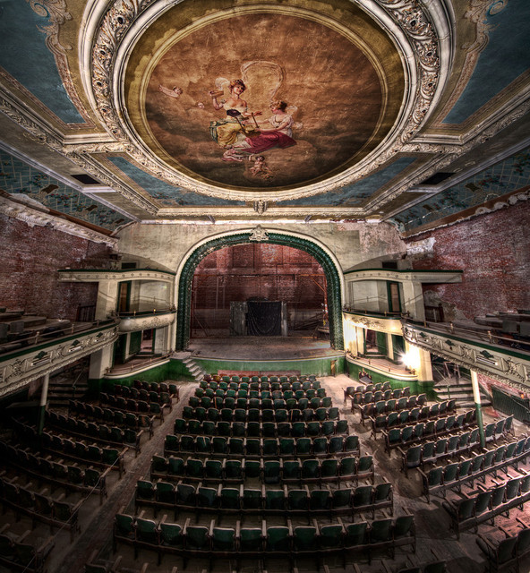 Vertorama of the New Bedford Orpheum Theatre
