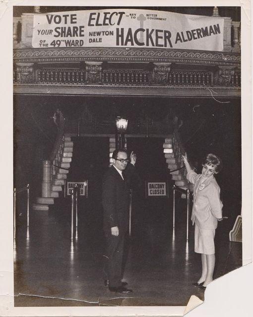 1963 Adlermanic race Newton Dale Hacker versus Paul T. Wigoda. Photo credit Hacker Family Collection.