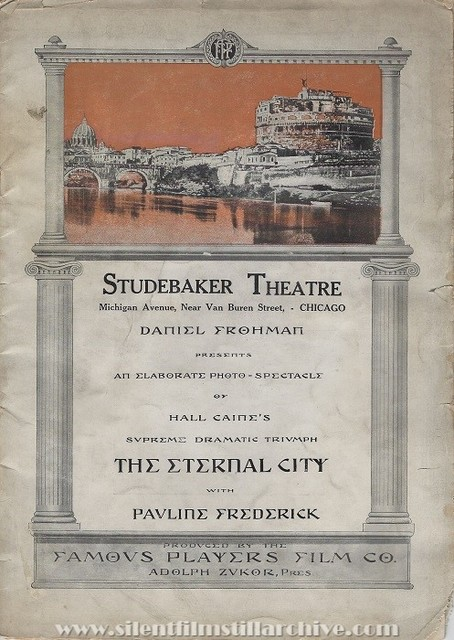 Deluxe program for THE ETERNAL CITY (1915)