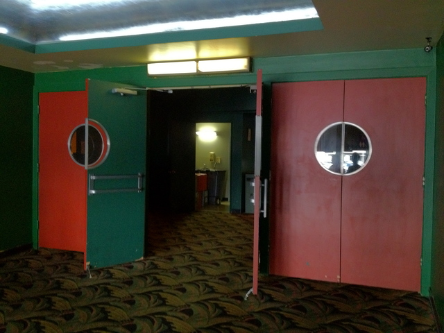 Doors to from lobby to main auditorium vestibule