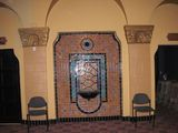 Tiled fountain in Foyer 