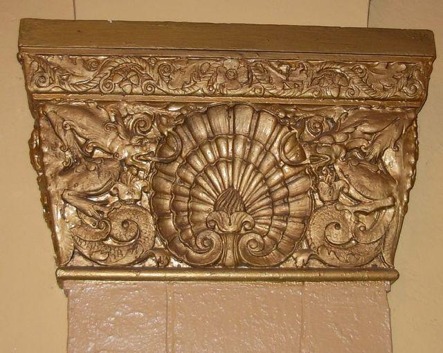 Dragons on plaster in Foyer
