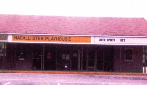 1980s photo as Macallister Playhouse credit Bob Rutan, who did a dozen plays there `83 and `86.