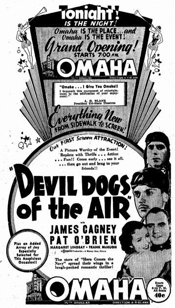February 20th, 1935 grand opening ad as Omaha