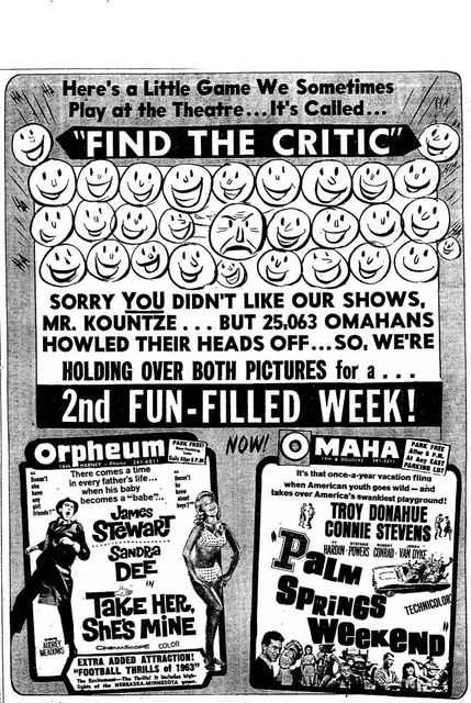 Find the Critic game from December 12th, 1963