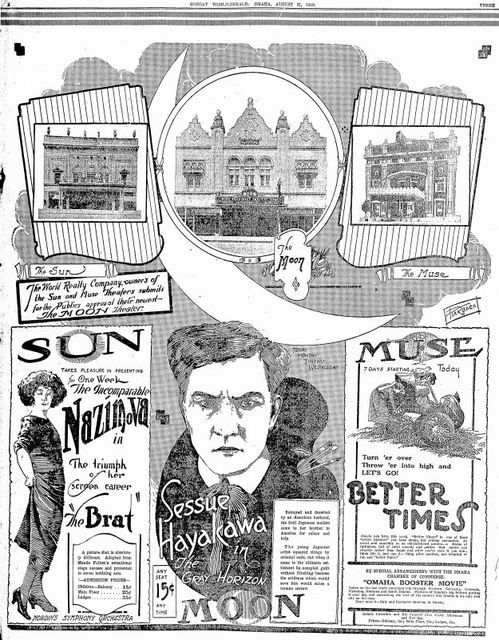 August 31st, 1919 grand opening ad as Moon