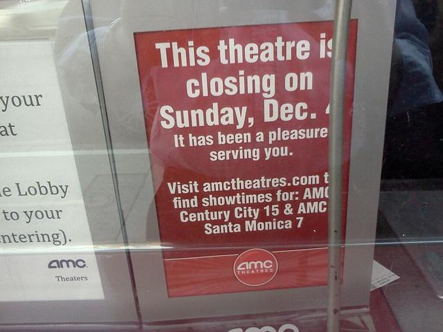 Sunday Dec 4, 2011 closing notice in Box Office