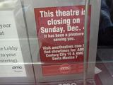 Sunday Dec 4, 2011 closing notice in Box Office