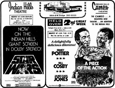 October 28th, 1977 grand opening for the Indian Hills Cameo