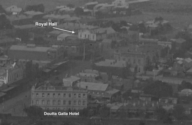 Royal Hall 25 Princes Street, Flemington, VIC  -  Elevated view - 1925