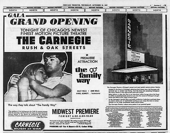 Thursday October 12, 1967 Grand Opening print ad credit Chicago Tribune, via Tim O'Neill.