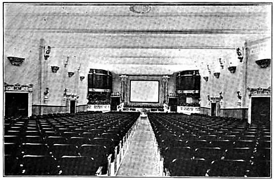 1918 auditorium image via Tim O'Neill.