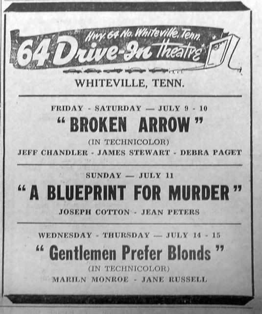 1950s print ad courtesy Hardeman County, TN - History, Photos, & Genealogy Facebook Page.