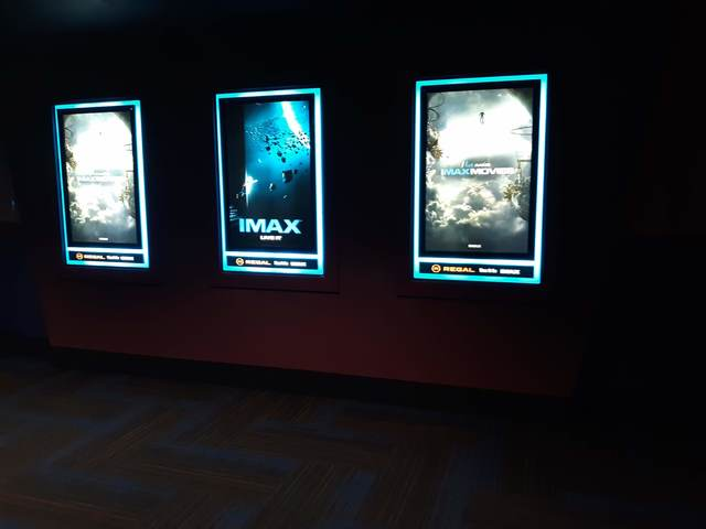IMAX posters near IMAX auditorium