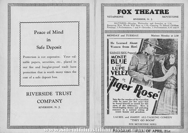 Fox Theatre Program