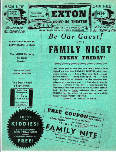 Exton Drive-In Flyer