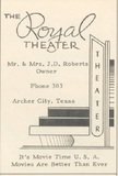 """[""""Royal Theater""""]"""