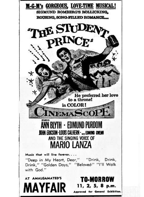 1954 print ad courtesy Rosie Douglas.