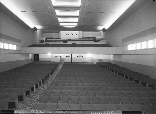 Odeon Cinema Campsie - view from stage to bio box