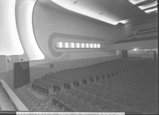 Odeon Theatre Campsie view from stage to biobox