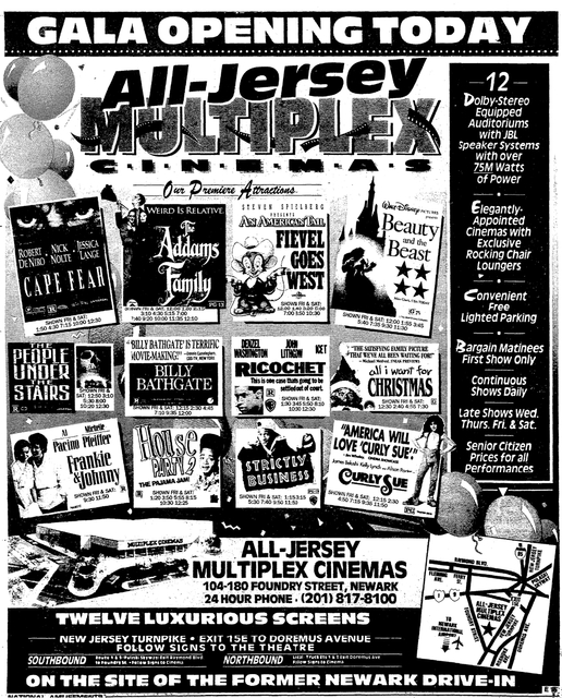 All Jersey Multiplex Cinemas