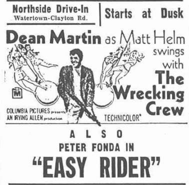 Northside Drive-In  27734 NY-12, Watertown, NY  - 1968
