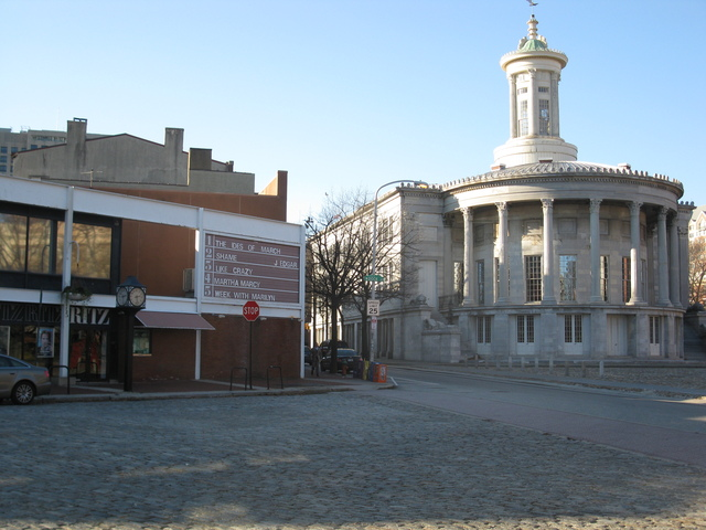 12-18-11 to the right is historic Merchants' Exchange