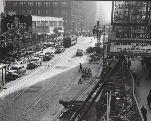 Summer 1941, subway construction.